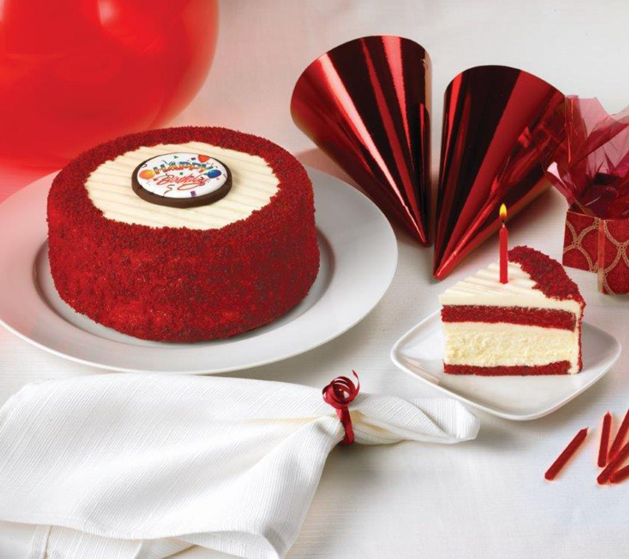 Juniors 7 Happy Birthday Red Velvet Cheesecake QVCcom