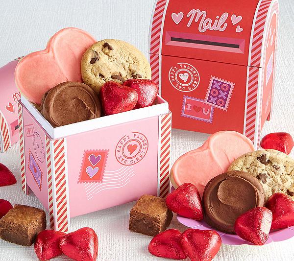 cheryls set of 2 mini valentine mailboxes qvccom - Valentine Mailboxes