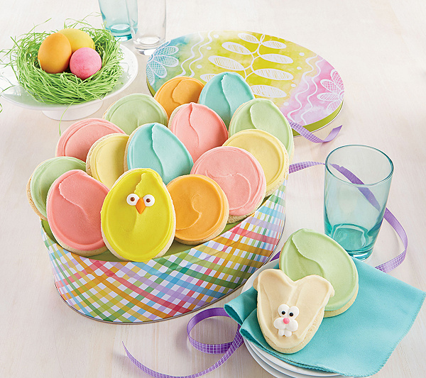Cheryls easter egg gift tin 16 cookies qvc negle Choice Image
