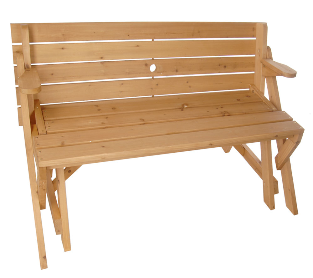Garden Furniture Qvc solid wood 2-in-1 picnic table/ garden bench combination - page 1
