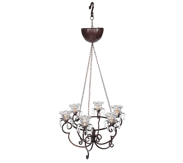 Battery Operated Hanging Chandelier W Led Flame Light Page 1 Qvc