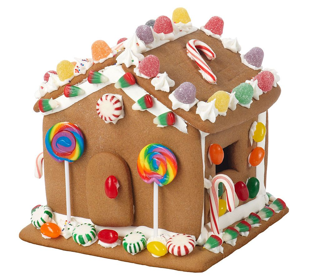 Gingerbread house decoration supplies