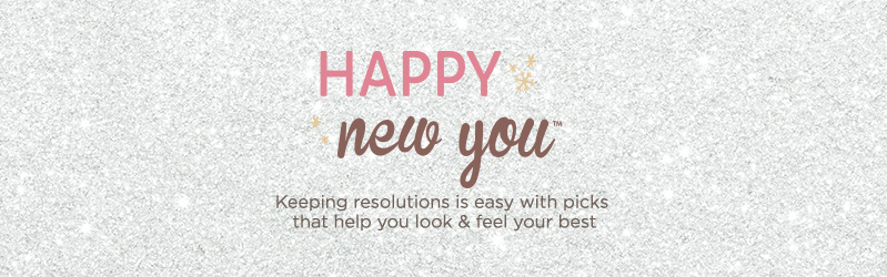 Happy New You Start fresh with special finds to help you kick off 2017