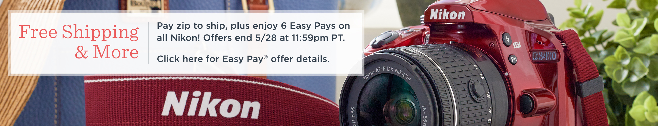 Free Shipping & More — Pay zip to ship, plus enjoy 6 Easy Pays on all Nikon! Offers end 5/28 at 11:59pm PT.  Click here for Easy Pay® offer details.