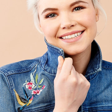 Denim -- Find a new favorite! Pair with pants, skirts & more