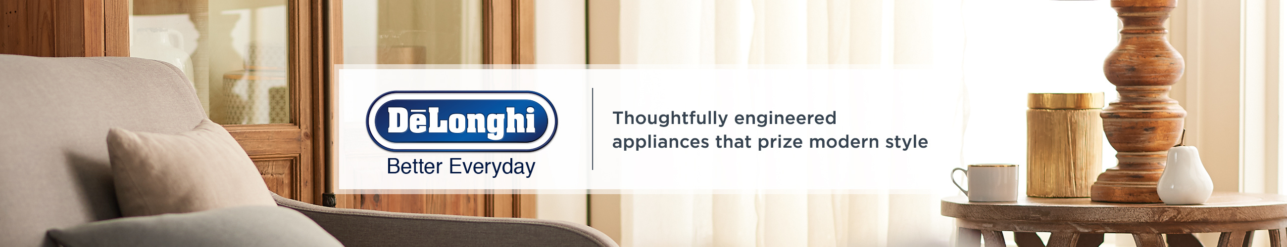 DeLonghi Thoughtfully engineered appliances that prize modern style