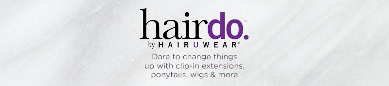 hairdo by HairUWear  Dare to change things up with clip-in extensions, ponytails, wigs & more