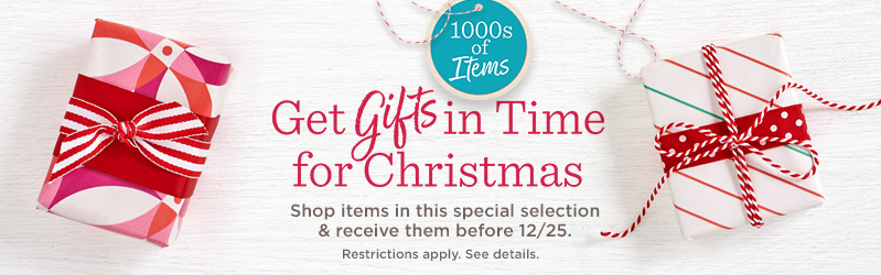 1000s of Items — Get Gifts in Time for Christmas — Shop items in this special selection & receive them before 12/25. Restrictions apply. See details.