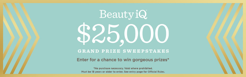 Beauty iQ Sweepstakes — Enter for a chance to win gorgeous prizes* , *No purchase necessary. Void where prohibited. Must be 18 years or older to enter. See entry page for Official Rules.