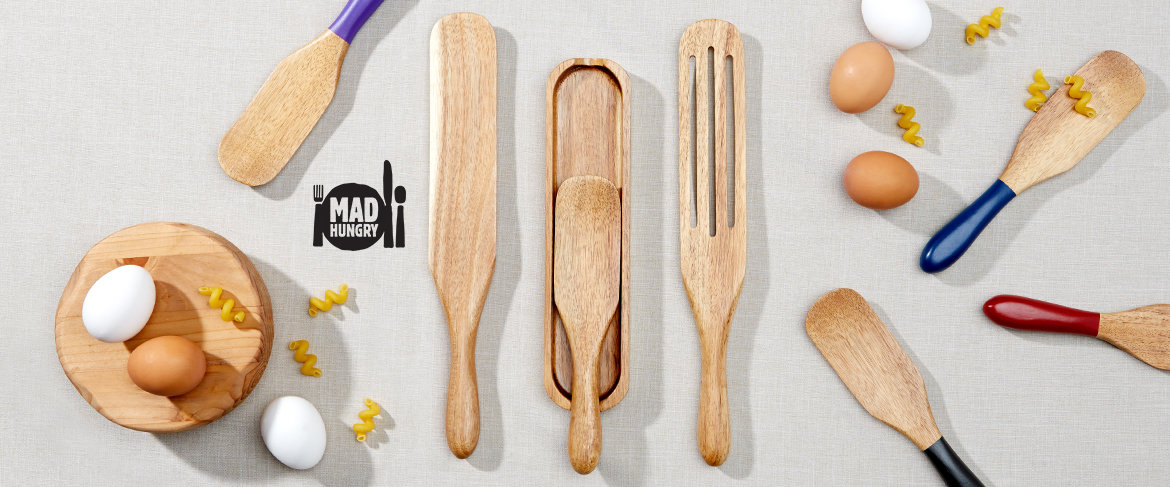 Mad Hungry 4-piece Acacia Spurtle Set QVC2 Big Deal™