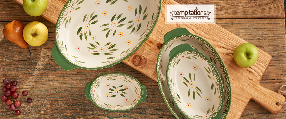 Temp-tations Set of 4 Oval Bakers QVC2 BIG DEAL™