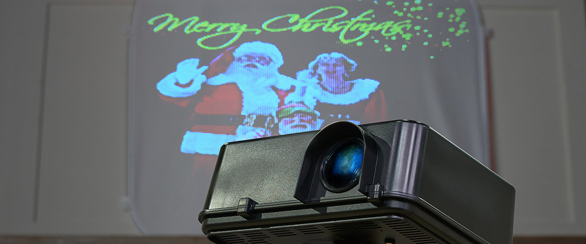 Mr. Christmas Indoor/Outdoor Virtual Projector w/Pop-Up Screen QVC2 BIG DEAL™