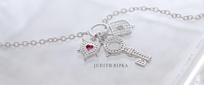 QVC2 Big Deal™ — Judith Ripka Key to My Heart Sterling Silver & Gemstone Neck