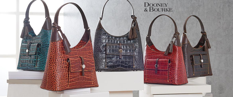 QVC2 Big Deal™ — Dooney & Bourke Savannah Croco Embossed Leather Hobo Handbag