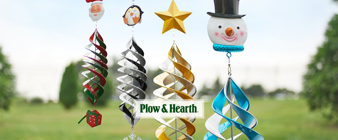 QVC2 Big Deal™ —  Plow & Hearth Indoor/Outdoor Metal Holiday Wind Spinner