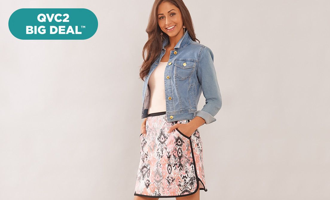 QVC2 Big Deal™ — Denim & Co.® Skort