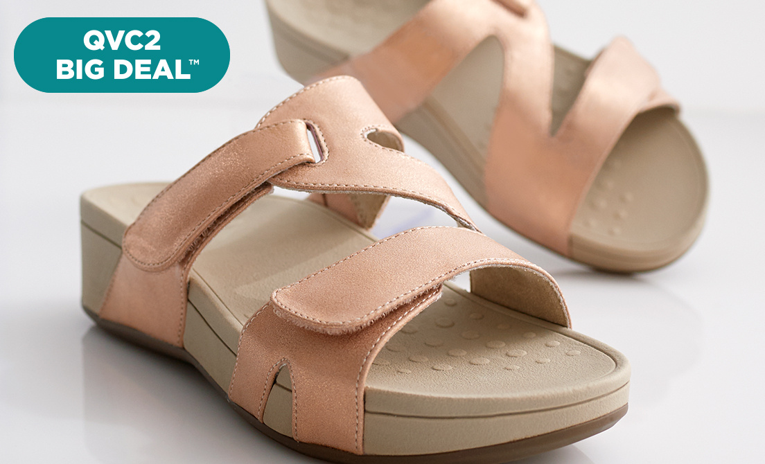 QVC2 Big Deal™ — Vionic® Slide Sandals