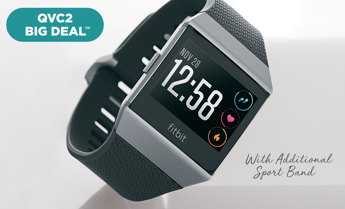 QVC2 Big Deal™ — Fitbit Ionic Smartwatch — With Additional Sport Band