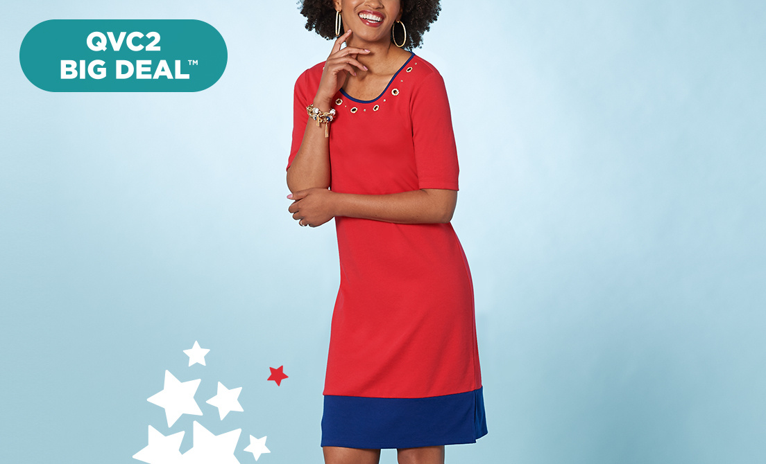 QVC2 Big Deal™ — Quacker Factory® Dress