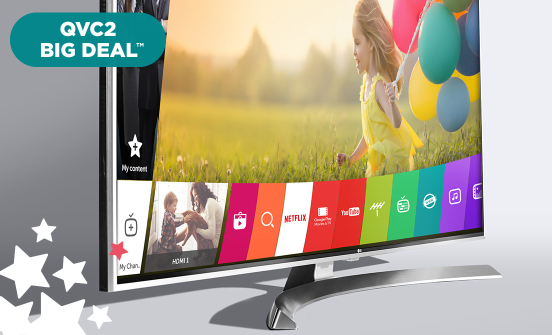 QVC2 Big Deal™ — All TVs for 6 Easy Pays