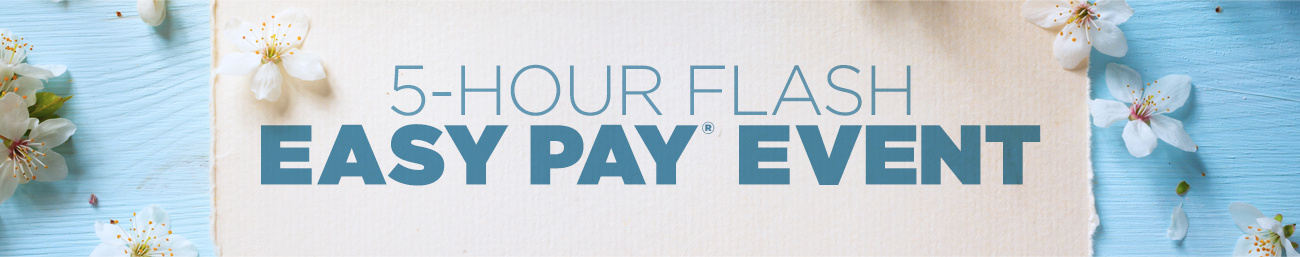 5-Hour Flash Easy Pay® Event