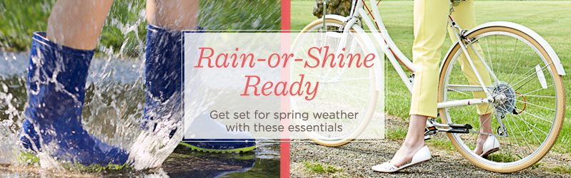 Rain-or-Shine Ready — Get set for spring weather with these essentials