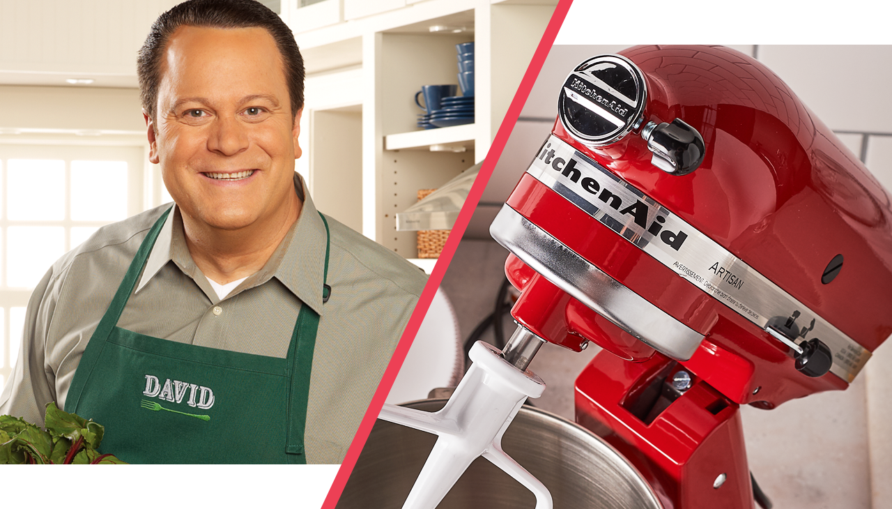 Hungry for fun? See what's cooking on In the Kitchen with David®! And, enter our KitchenAid 25th Anniversary Sweepstakes for a chance to win culinary prizes. (No purchase necessary. Void where prohibited. Must be 18 years or older to enter. See entry page for Official Rules.)