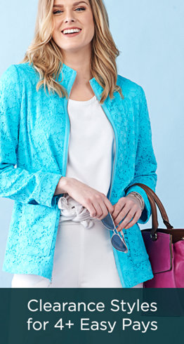 Clearance Styles for 4+ Easy Pays