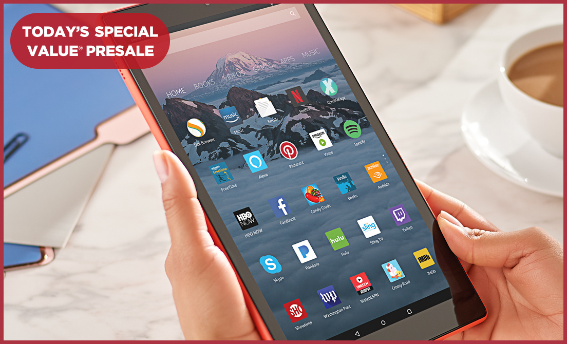 """Today's Special Value® Presale — Amazon Fire 10"""" HD Tablet"""