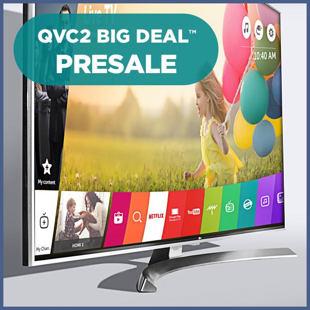 QVC2 Big Deal™ Presale — LG 4K Super UHD TV