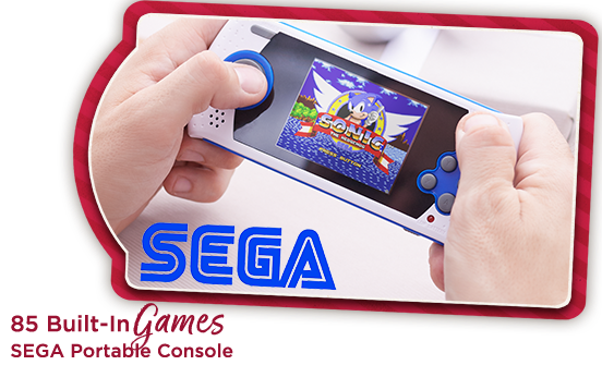 SEGA Portable Console 85 Built-In Games