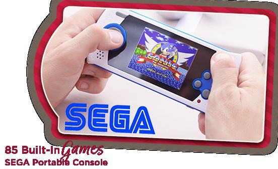 SEGA Portable Console 85 Built-In Games