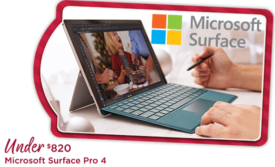 Microsoft Surface Pro 4 Under $820