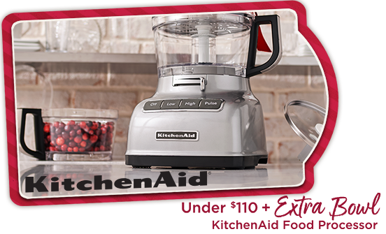 KitchenAid Food Processor — Under $110 + Extra Bowl