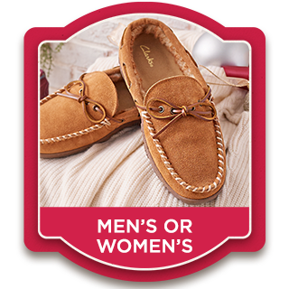 Clarks Suede Slippers — Men's or Women's