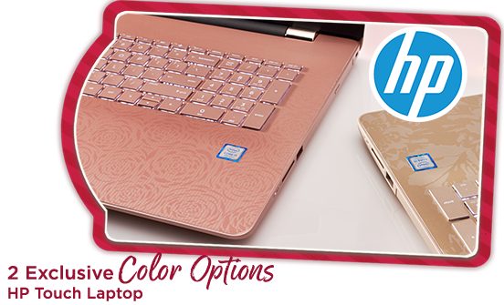 2 Exclusive Color Options HP Touch Laptop