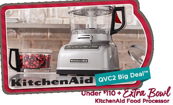 QVC2 Big Deal™ — KitchenAid Food Processor Under $110 + Extra Bowl