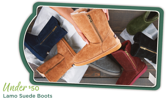 Lamo Suede Boots Under $50