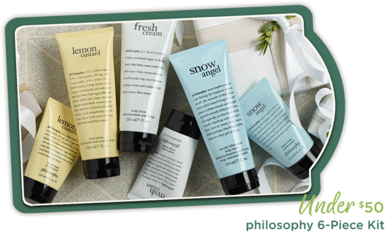 philosophy 6-Piece Kit Under $50