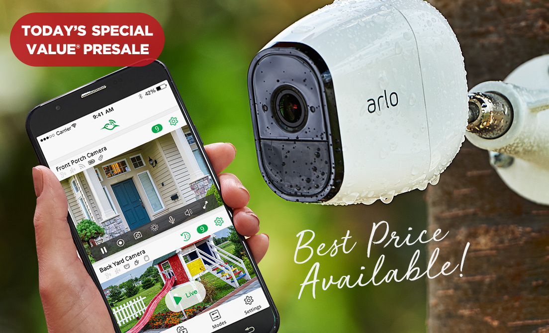 Today's Special Value® Presale — NETGEAR Arlo Pro 2-Pack Cams — Best Price Available