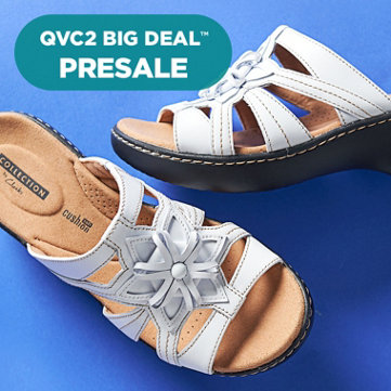 QVC2 Big Deal™ Presale — All Clarks on Easy Pay — Step into great looks, like these leather slides