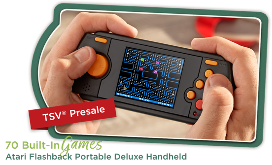Atari Flashback Portable Deluxe Handheld 70 Built-In Games