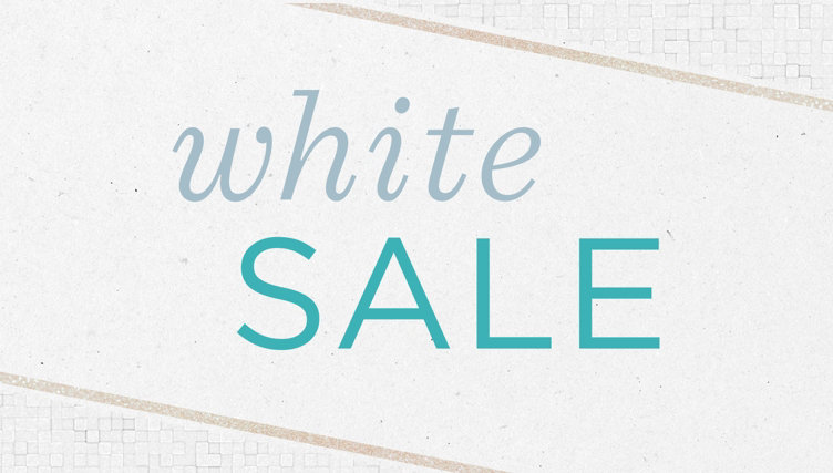 White Sale — Shop the Event — Discover select Sale Prices, linens & home staples