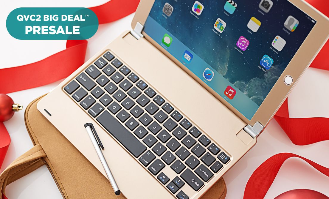 'QVC2 Big Deal™ Presale — 2017 Apple® iPad® Tablet' from the web at 'http://qvc.scene7.com/is/image/QVC/pic/hp/seq4_spot2_20171208.jpg'