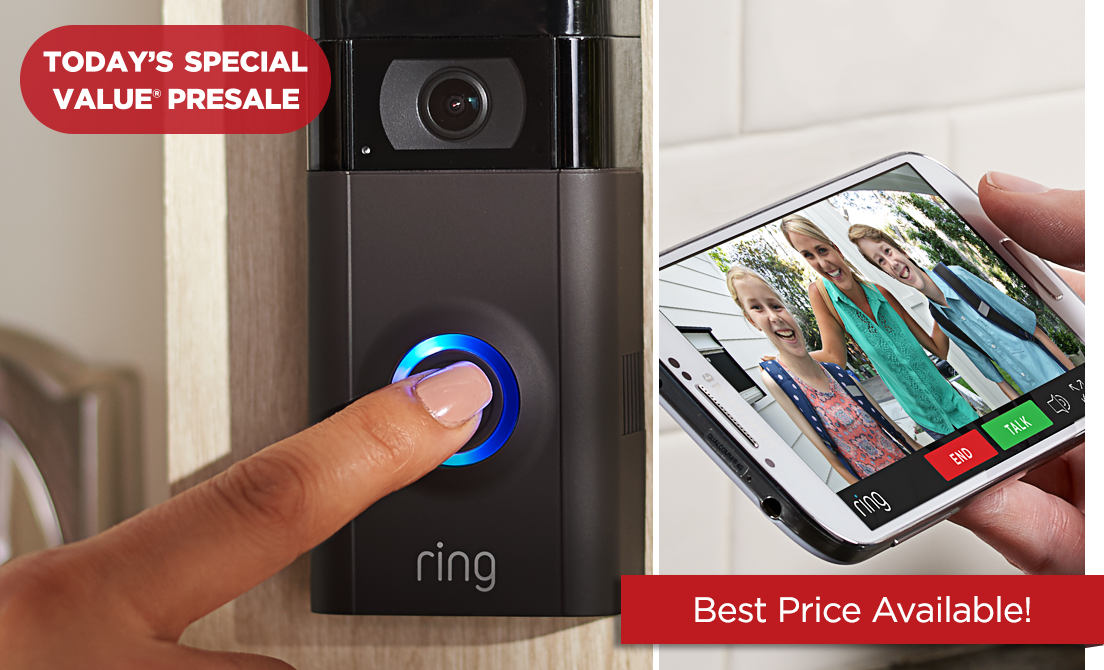 Today's Special Value® Presale — Ring Video Doorbell 2 — Best Price Available!