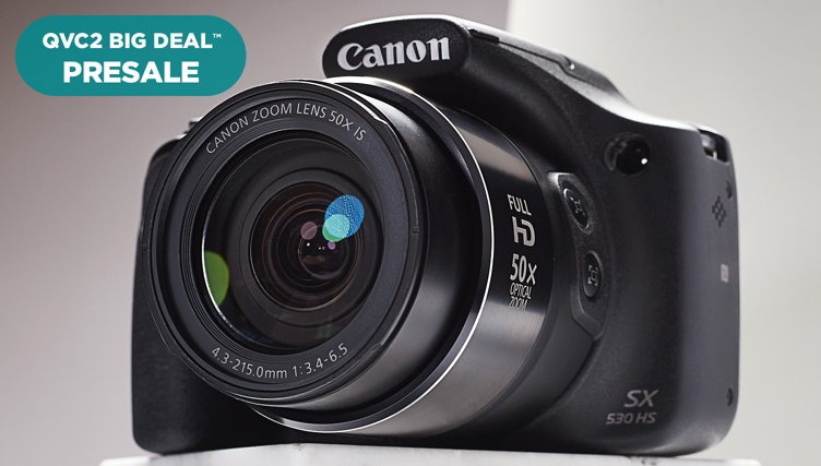 QVC2 Big Deal™ Presale — Under $250 — Snap up this Canon SX530 Digital Camera with Bag