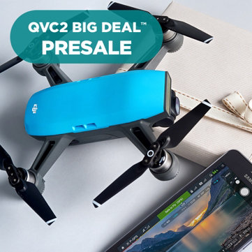 QVC2 Big Deal™ Presale — DJI Spark Drone Kit — Record 1080p HD video with this hot drone