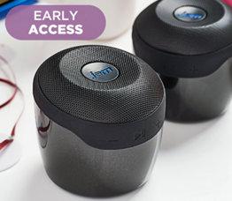 Set of 2 Jam Voice Bluetooth and WiFi Speakers w/ Amazon Alexa