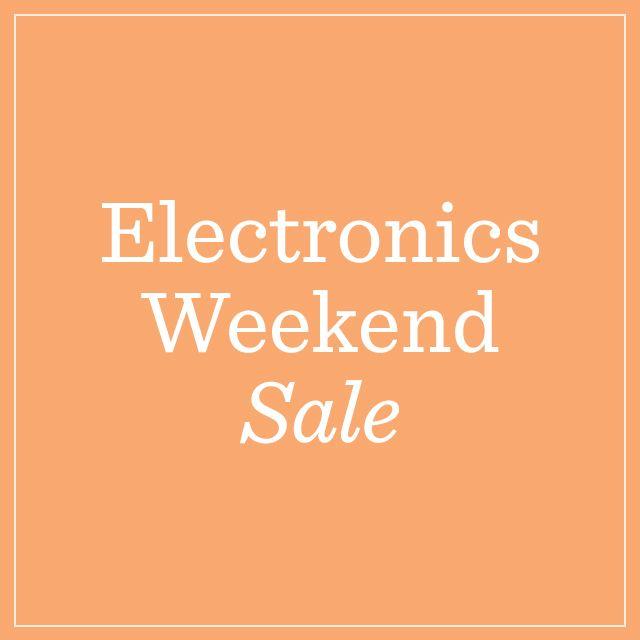 Electronics Weekend Sale — Tech Deals Ending Tonight
