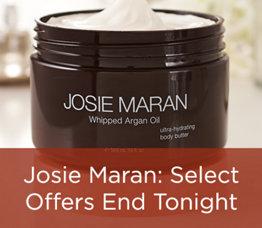 Josie Maran: Select Offers End Tonight